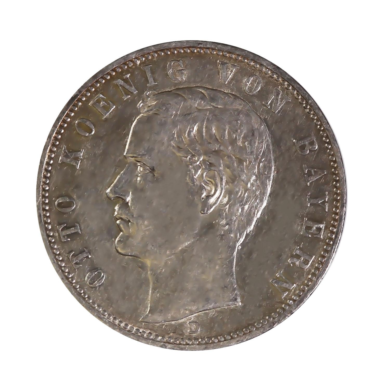 Germany Bavaria 5 Mark Silver 1900-1913