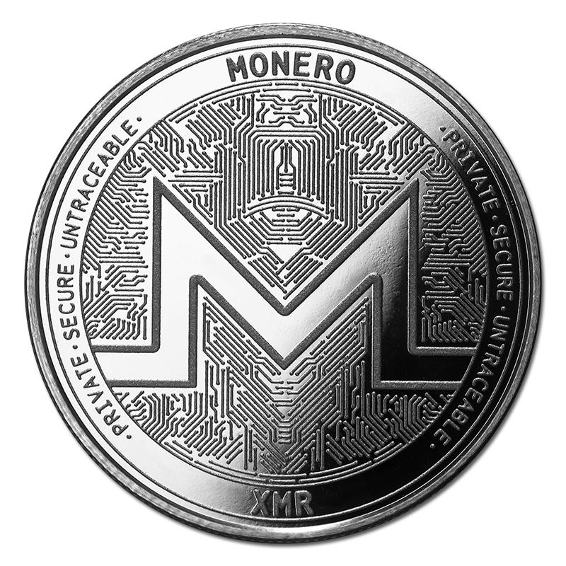 1 oz Silver Bullion Cryptocurrency Monero Round .999 fine