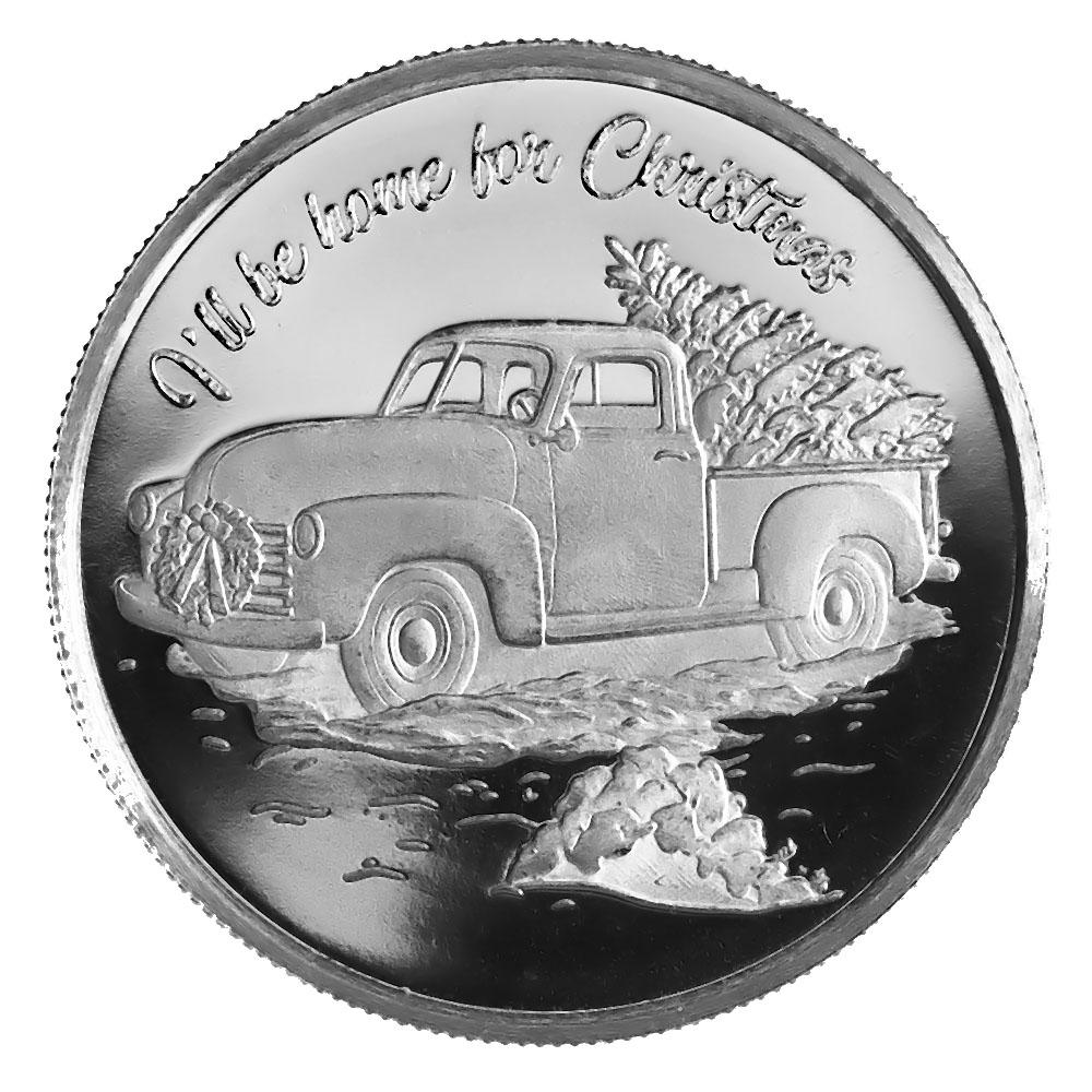 2021 Farm Truck Christmas 1oz Silver Round (D-3)
