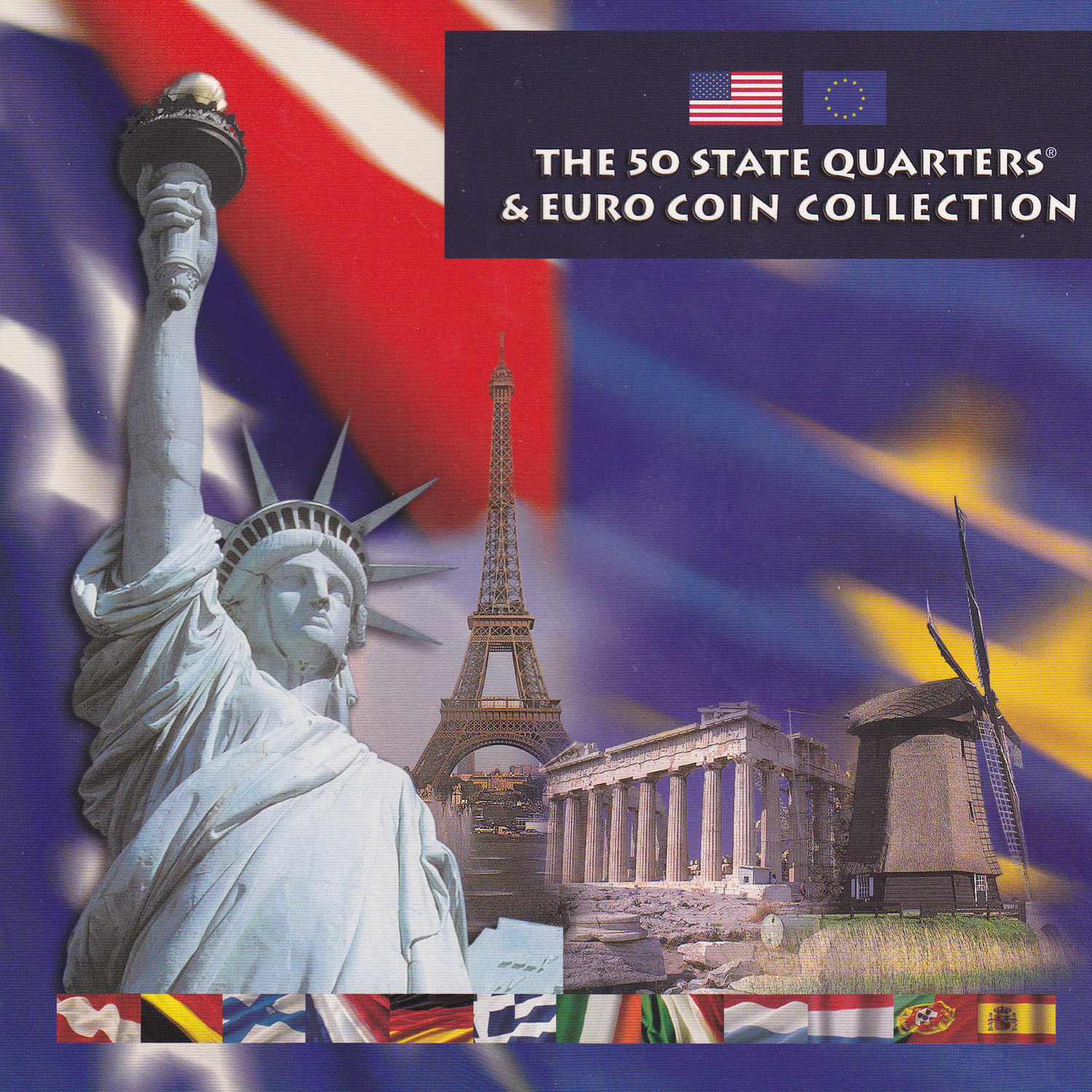 The 50 State Quarters & Euro Coin Collection