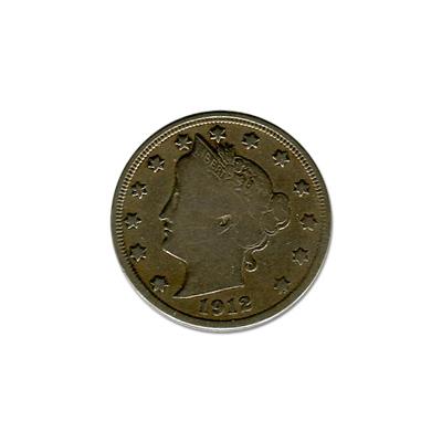 Liberty V Nickel 1912-S Fine