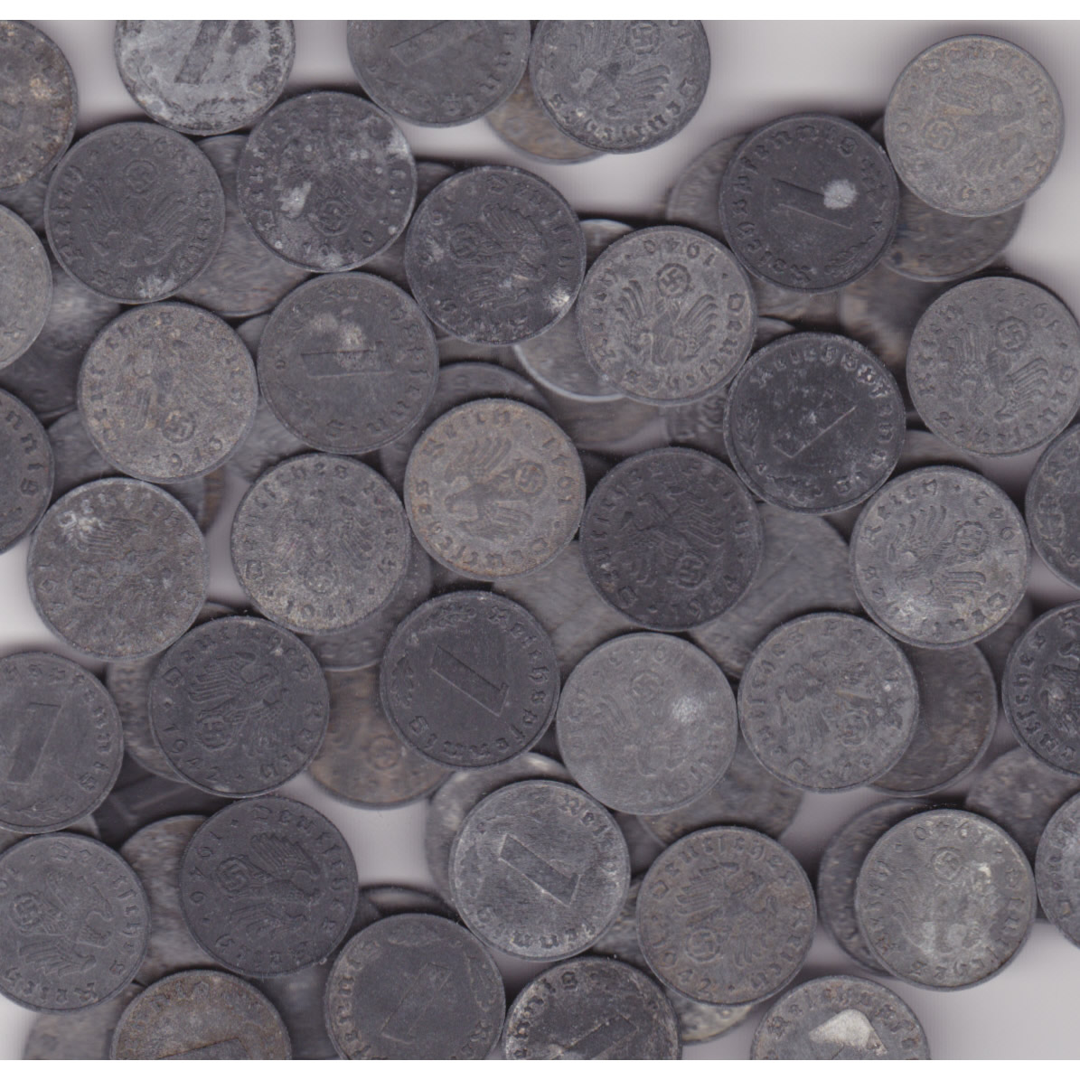 Germany Third Reich 1 pfennig zinc 10 piece lot