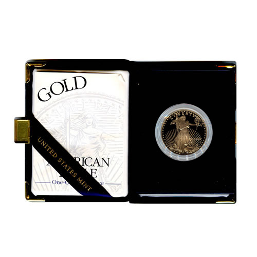 Proof American Gold Eagle Half Ounce (Date Of Our Choice) w/ Box and coa