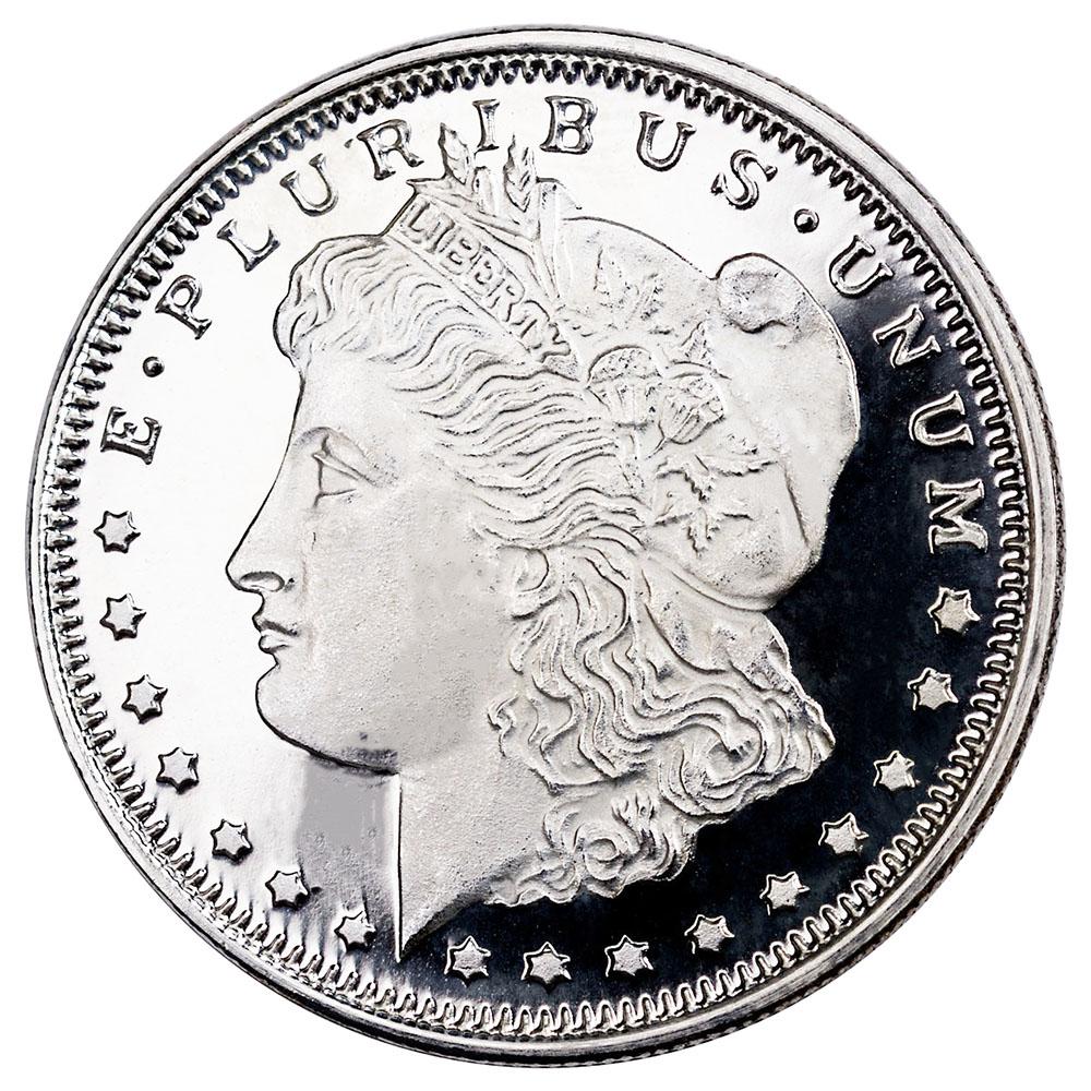 Silver Bullion 1/2 oz Morgan Round .999 Fine
