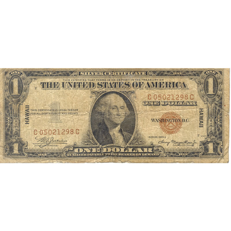 1935A Hawaii $1 silver certificate G