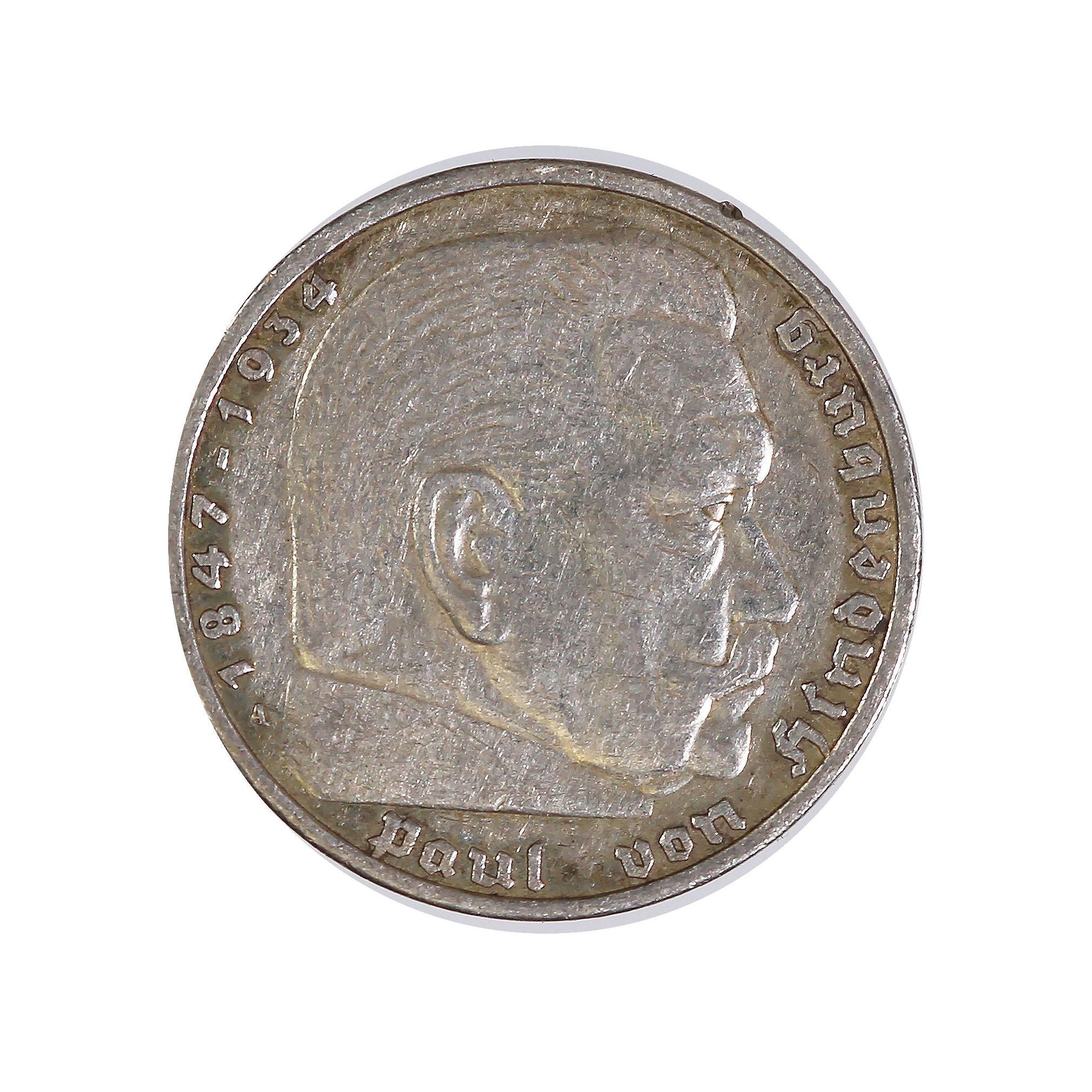 Germany 5 reichsmark 1935-1936 Hindenburg (KM86)