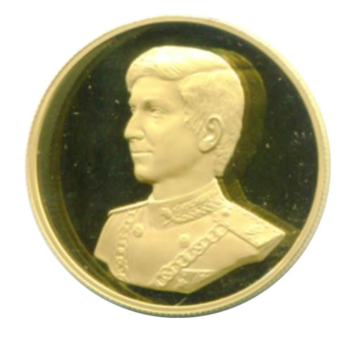Iran gold medal 1977 PF 9.9 g. Prince Birthday