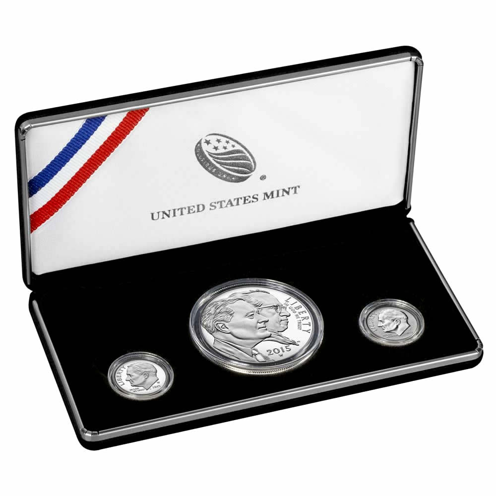 2015 March of Dimes 3 Coin Special Silver Set
