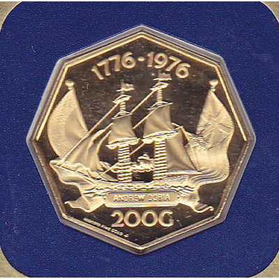 Netherlands Antilles 200 Gulden Gold PF 1976-1977 Andrew Doria
