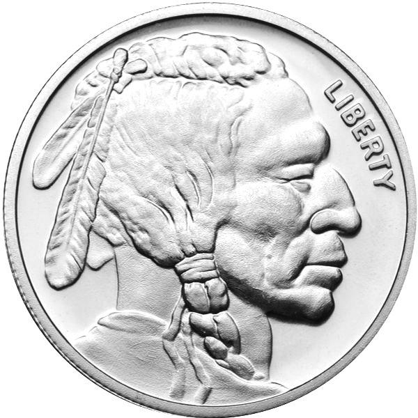 Silver Bullion 1 Oz Buffalo Round 999