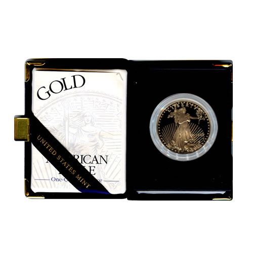 Proof American Gold Eagle One Ounce (Date Of Our Choice)w/ Box and coa