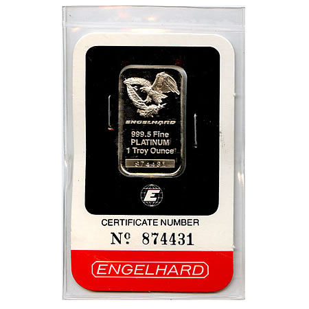 Engelhard One Ounce Platinum Bar