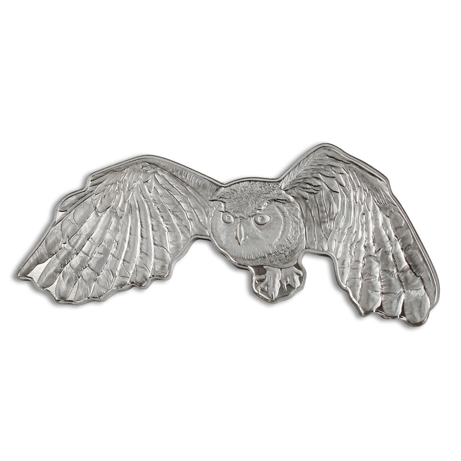 2020 Great Horned Owl Solomon Islands 1oz Silver $2 Coin .9999 Fine