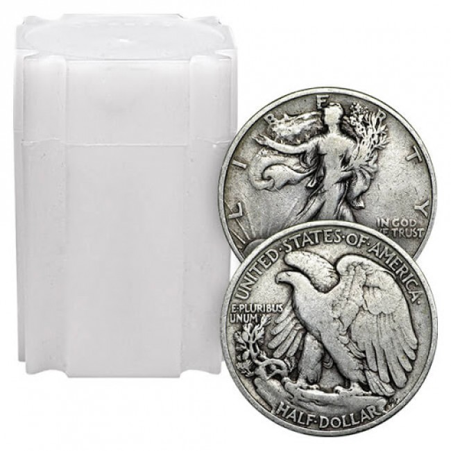 90% Silver Walking Liberty Halves Roll (20pcs.)