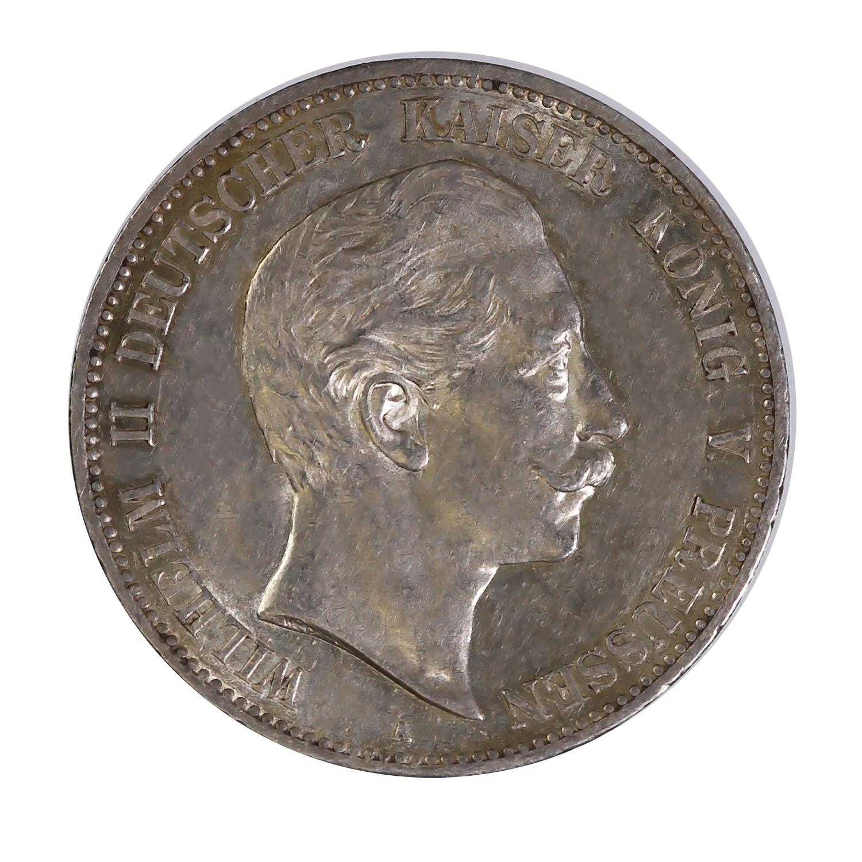 Prussia 5 mark silver 1891-1908 VF