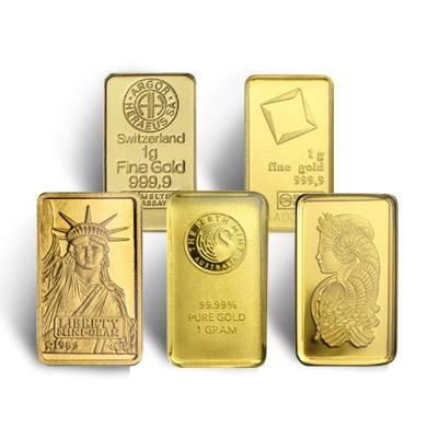 1 Gram Gold Bar - Random Manufacturer