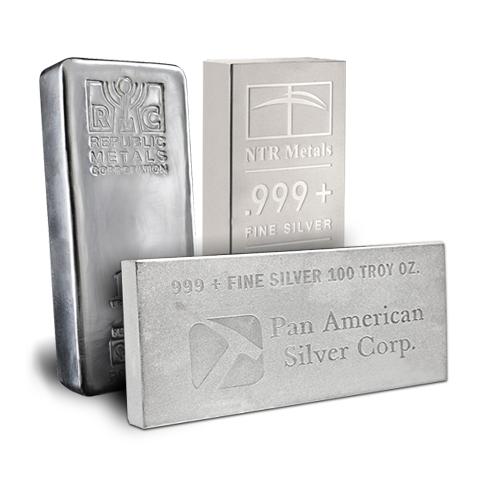 Random Manufacturer Silver Bar 100 oz