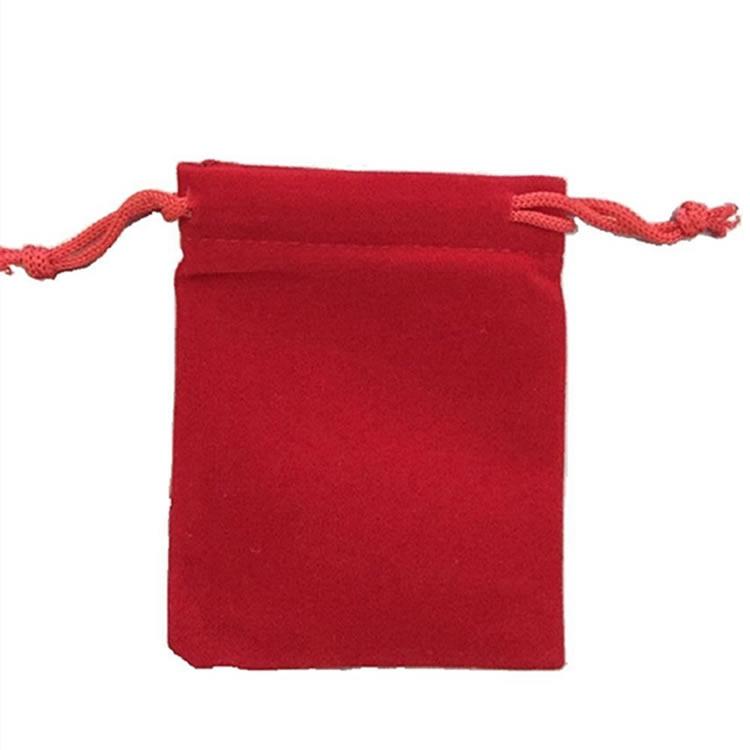 Red Velvet Coin Gift Bag