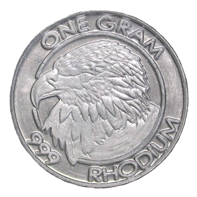 Cohen Mint 1 Gram Rhodium Round