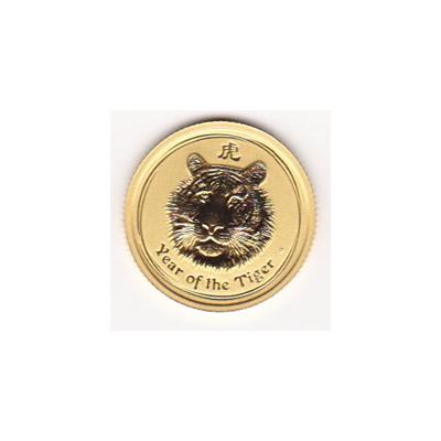 Australian Series II Lunar Gold Tenth Ounce 2010 Tiger