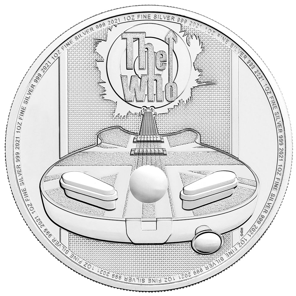 2021 Great Britain 1 oz Silver - Music Legends The Who