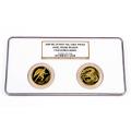 2009 Angel vs Dragon 2 Coin Gold Set NGC PF69
