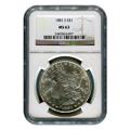 Certified Morgan Silver Dollar 1881-S MS63 NGC