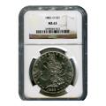 Certified Morgan Silver Dollar 1883-O MS63 NGC