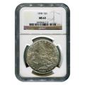 Certified Morgan Silver Dollar 1898 MS63 NGC