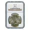 Certified Peace Silver Dollar 1923 MS63 NGC