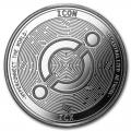 1 oz Silver Bullion Cryptocurrency Icon Round .999 fine