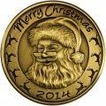Christmas 2014 Bronze Coin BX-9 Santa with Reindeer