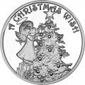 Christmas 2014 Silver Round X-13 Christmas Wish with Angel