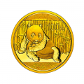 Chinese Gold Panda Quarter Ounce 2015