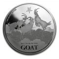Niue 1 oz Silver 2015 Lunar Goat