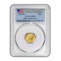 2016-W 1/10 oz Gold Mercury Dime Coin PCGS SP70