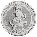 2021 1oz British Platinum Queen's Beast White Horse of Hanover (BU)