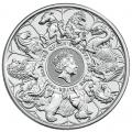 2021 2 oz British Silver Queen's Beast Completer Coin (BU)