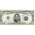 1934C $5 Silver Certificate CU