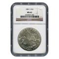 Certified Morgan Silver Dollar 1881-S MS65 NGC