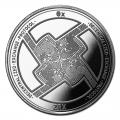 1 oz Silver Bullion Cryptocurrency 0x Protocol Round .999 fine