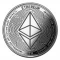 1 oz Silver Bullion Cryptocurrency Ethereum Round .999 fine