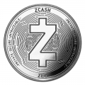 1 oz Silver Bullion Cryptocurrency Zcash Round .999 fine