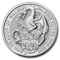 2017 2 oz British Silver Queen's Beast Dragon Coin (BU)