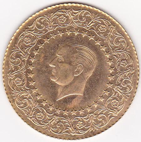 Turkey 250 Kurush Gold Monnaie de Luxe UNC