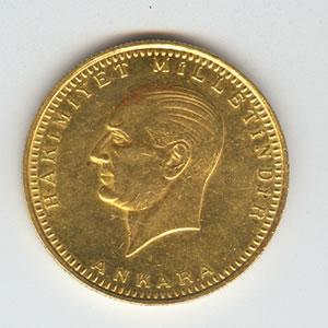Turkey 500 Kurush Gold Bullion Issue  UNC