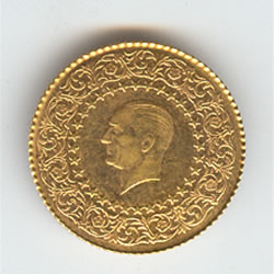 Turkey 50 kurush Gold Monnaie de Luxe 1942-2000 UNC