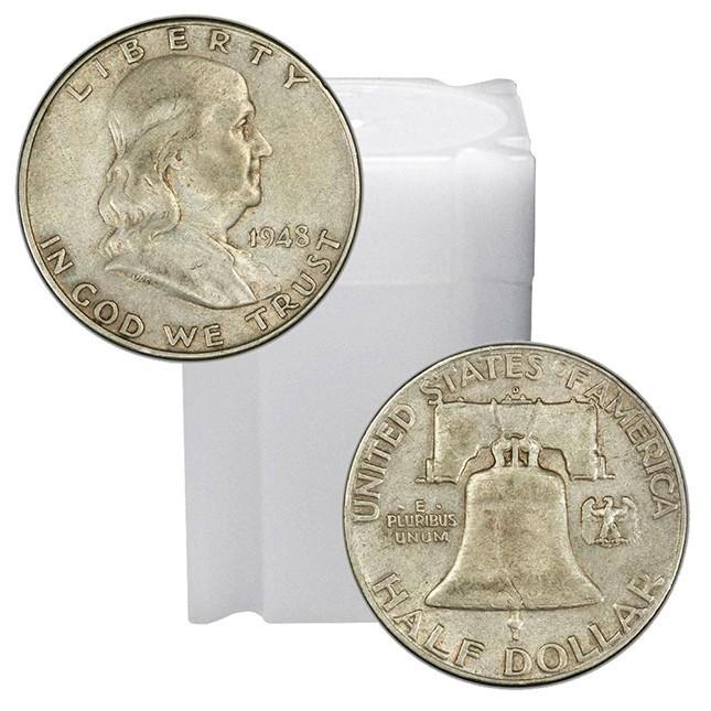 90% Silver Franklin Halves Roll (20pcs.)
