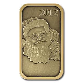 Christmas 2012 Bronze Bar X-1 Santa (with ornament holder)