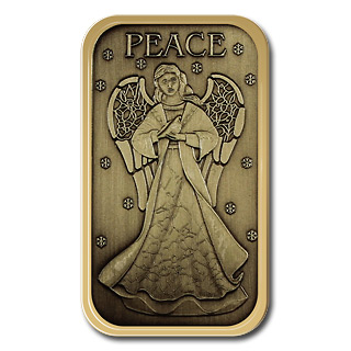Christmas 2012 Bronze Bar X-2 Angel (with ornament holder)